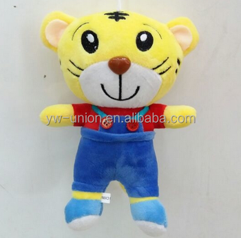 Plush tiger with trousers,embroidery eye plush tiger,cute tiger toy