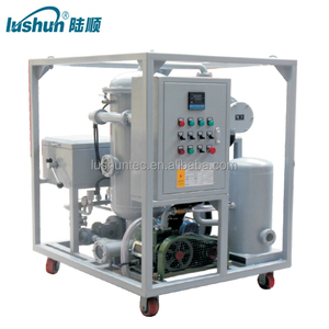 LUSHUN Brand 6000 Liters/H High Viscosity Vacuum Lube Oil Purifier With The Newestoil purifier machine