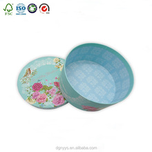 wholesale beauty surprise cardboard paper round flower boxes Light blue keepsake paperboard round flower box with lid