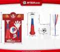 JR4601956 World cup fans toys series trumpet set 4pcs with newest design