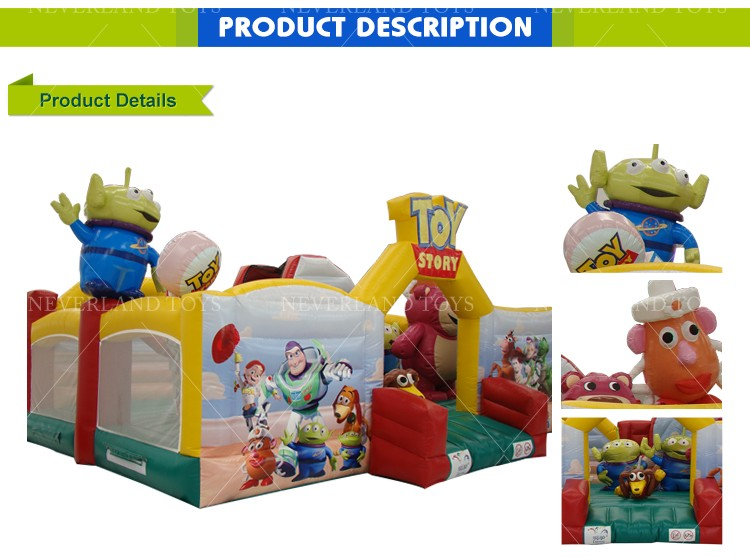 Commercial NEVERLAND TOYS Inflatable Toy Story Fun City Castle Inflatable Bouncy Castle for Kids