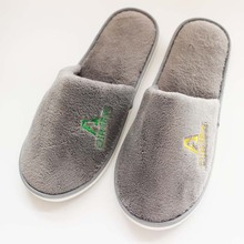 Factory OEM high quality disposable coral velvet hotel slipper