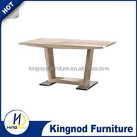 Modern 3D MDF dining tables, Wood table with Oak Paper, karachi furniture dining table