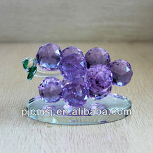 Beautiful crystal fruit,crystal purple grape for home decorations or gifts