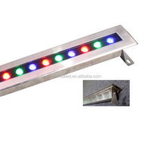 Stainless steel RGB RGBW white yellow fountain pool landscape wall washer 1M 1000mm IP68 18W 24W 36W led linear underwater light
