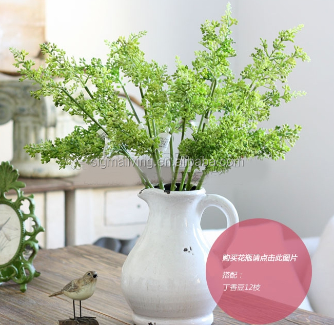 New arrival small plants living room decoration artificial flower artificial clove bean
