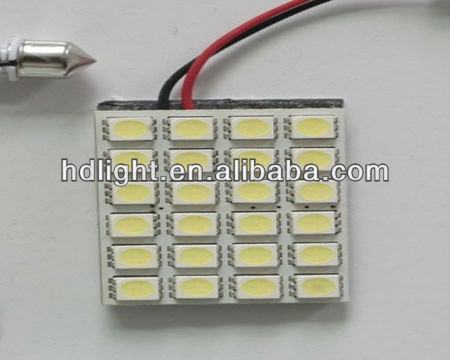24SMD 5050 T10 Car interior Dome Door LED Panel Light 1797