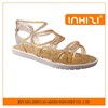 Newest design Cheap Shining PVC Jelly Shoes Clear Sandals For Ladies