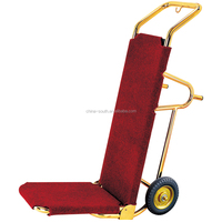 Hot sale Gold color hotel Hand Truck luggage trolley
