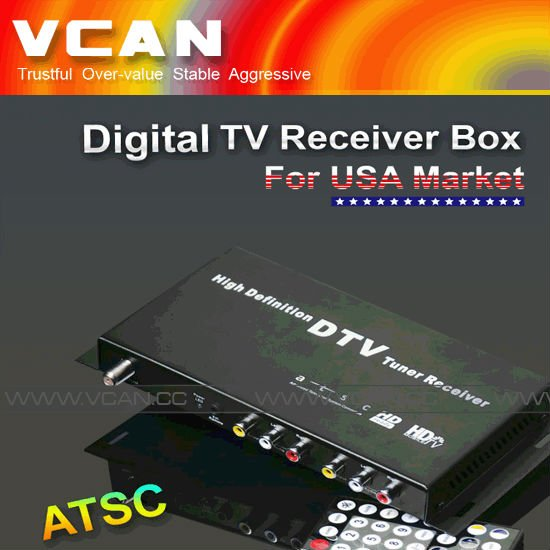 Set top box software update ATSC-1208-112 Car digital tv receiver ATSC FOR USA
