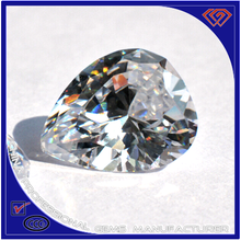Pear shape synthetic diamond with different colors and sizes