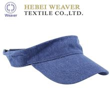 Oem wholesale outdoor cotton mesh visor cap with plastic back metal buckle or fitted closure