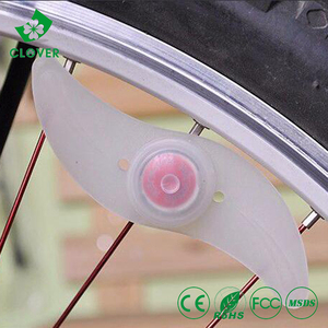 1W led CR2032 battery walking decorative led Bike light bicycle wheel light 2016