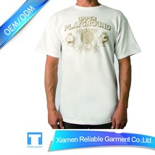High quality apparel t shirt china supplier garment rubber print on t-shirt