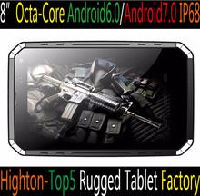 Cheapest 8inch MTK6753 android6.0 android7.0 IP68 32GB octa core 8 core rugged tablets with eight core waterproof tablet pc pad