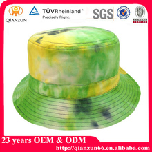 promotional cheap wholesale fashion cap and hat/plain fishing custom tie dyed bucket hats with woven label