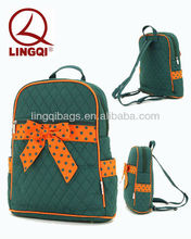 Fashion Unique Cotton Quilted School Backpacks for teenage school girls