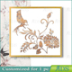 Framed Handmade Flower & Bird 3D Wall Art
