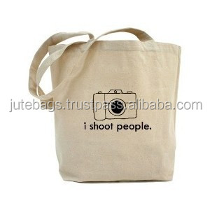 Cotton camera bag with print