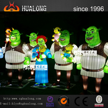 Shrek Cartoon Character Funny Lantern Animals