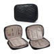 Waterproof Durable PU Leather Travel Jewelry Organizer Bag Case Women Roll Pouch for rings earrings necklaces
