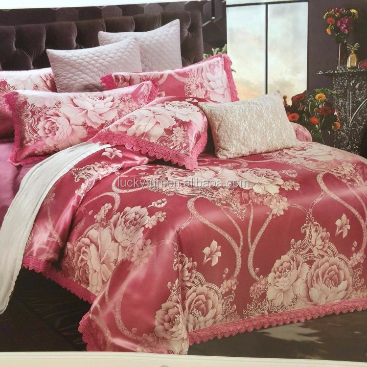 china supplier Luxury wholesale jacquard king size microfiber comforter <strong>set</strong> bedding <strong>sets</strong>