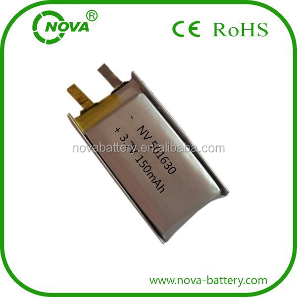 501630 li-ion battery 150 mAh 3.7v rechargeable li-polymer battery