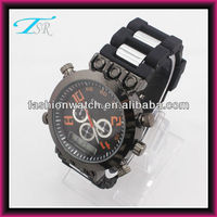 2016 shenzhen large case digital quartz mens sport watches export to USA and Europe market
