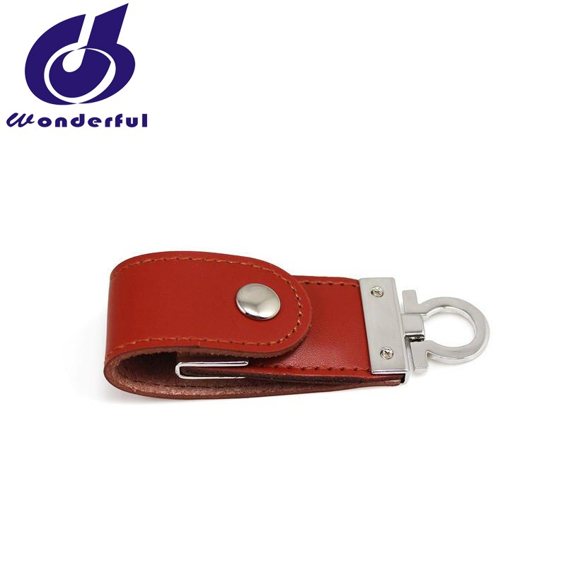 16GB 32GB Leather case USB Flash Drive customized logo for gift or use