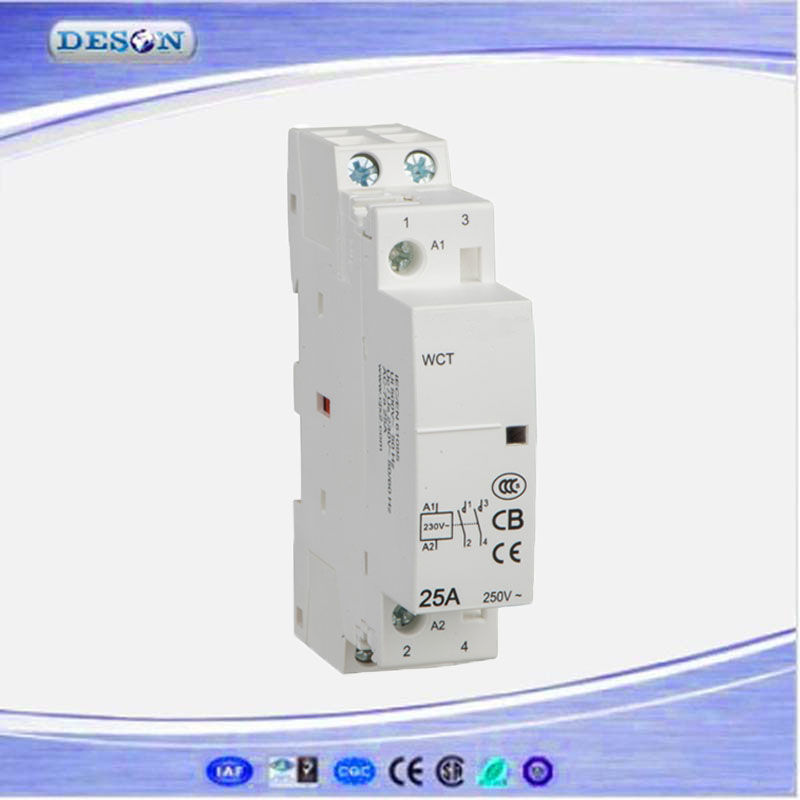 Modular Homes AC Contactor 25A, Electrical AC Contactor 2P, AC Magnetic Contactor Price110V/220V 50Hz