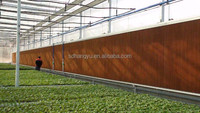 Industry evaporative cooling pad/wet curtain for greenhouse/poultry ventilation system