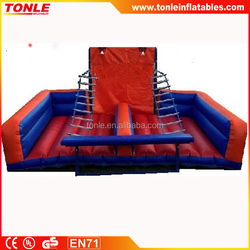 inflatable climbing rope slide/ Inflatable rope ladder climb game