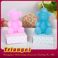 Manufacturer Cute Bear Shaped Candle For Birthday Party
