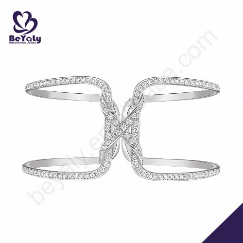 Wholesale online pave sterling silver and cz bangle bracelet