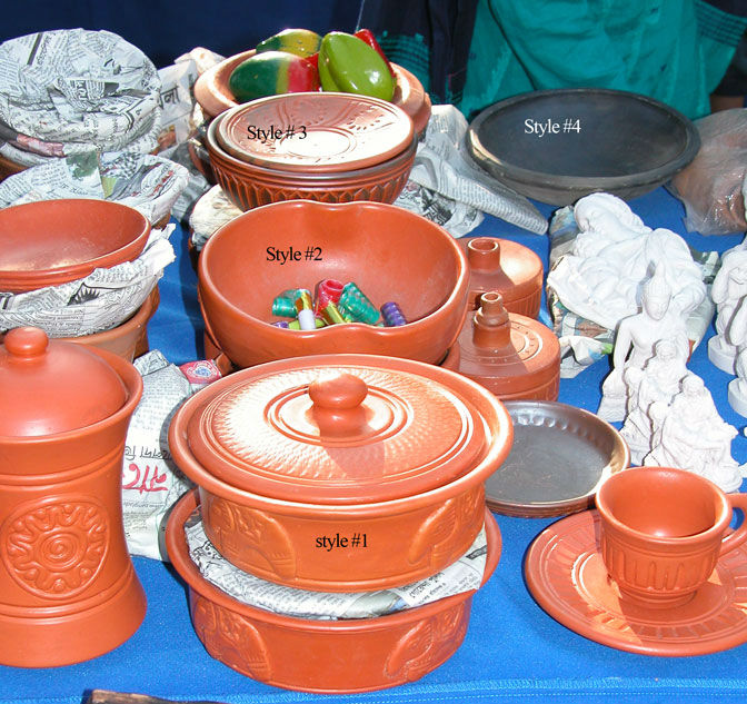 Terracotta Dinnerware/ bowls / Coffee mug / Plate / cooking pot / Serving pot / Serving Dishes etc.