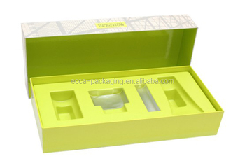 cosmetics gift box packaging wholesale cosmetic gift box with blister or Vac Form inner tray