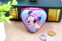 2016 new designs High Quality Lovely Round Coin Purse/mini Earphone Case with zipper for children and girls