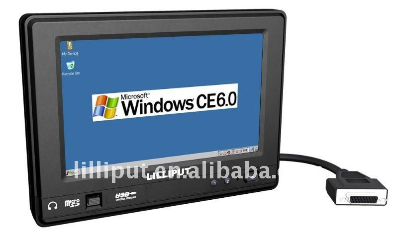 "Lilliput New-7"" Portable Touch Screen Industrial PC with WinCE 6.0/Linux 2.6.32 with IP64."