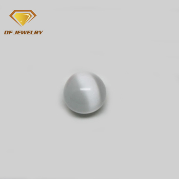 Ball shape glass stone cats eye plain beads