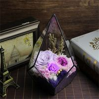 Best selling eternal life to spend preserved flower in mini glass