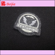 Environmental brand private label custom pvc patch tag for foreign trading garments cotton clothes