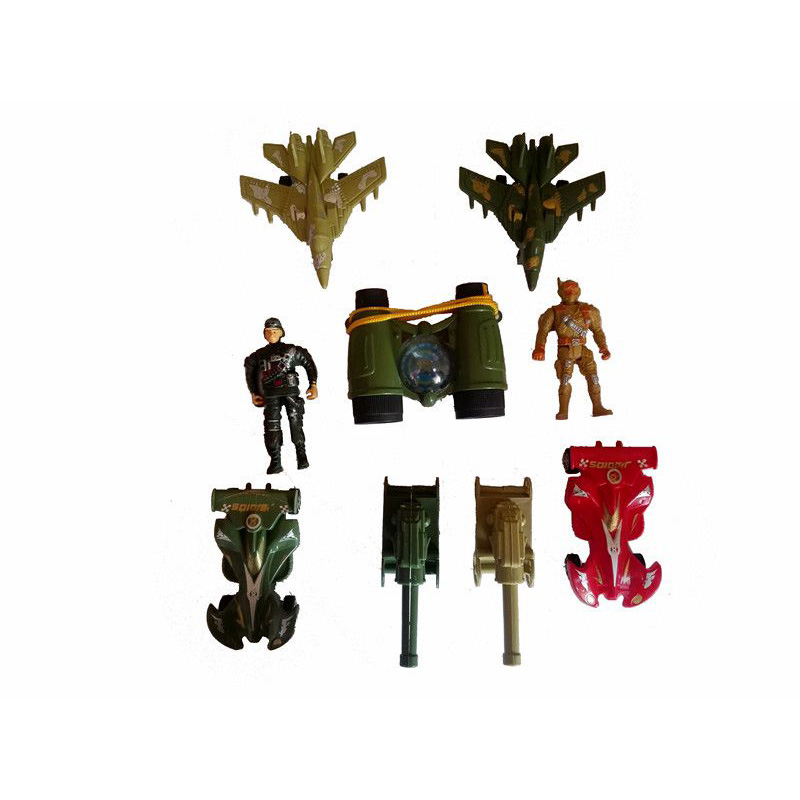 Popular Green Army Figure Play Soldier Set Plastic Military Vehicles Toys For Kids