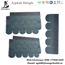 5 tab asphalt shingle type fish scale shape roofing shingle factory directly sell fibergalss apshalt shingle price