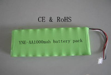 12V AA1000mah battery pack for power tool toys& model nimh
