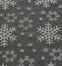 Hot sale new fabric design elsa dress glitter snowflake printed organza fabric