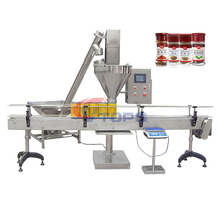 Vibration Soda Powder Glass / Plastic Bottle / Vial / Aluminum Can / Packaging Weighing Filling Machine Production Line