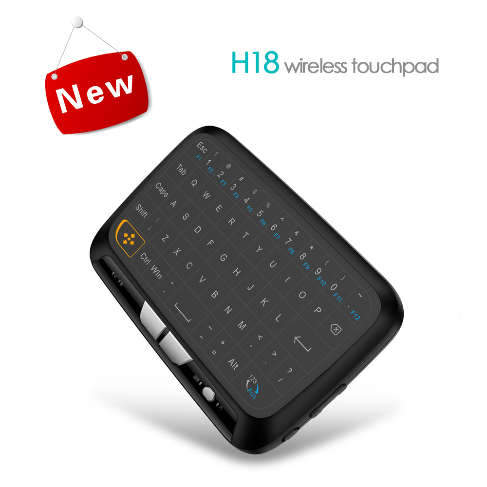 wireless keyboard Mini H18 USB connect by android tv box andd comouter