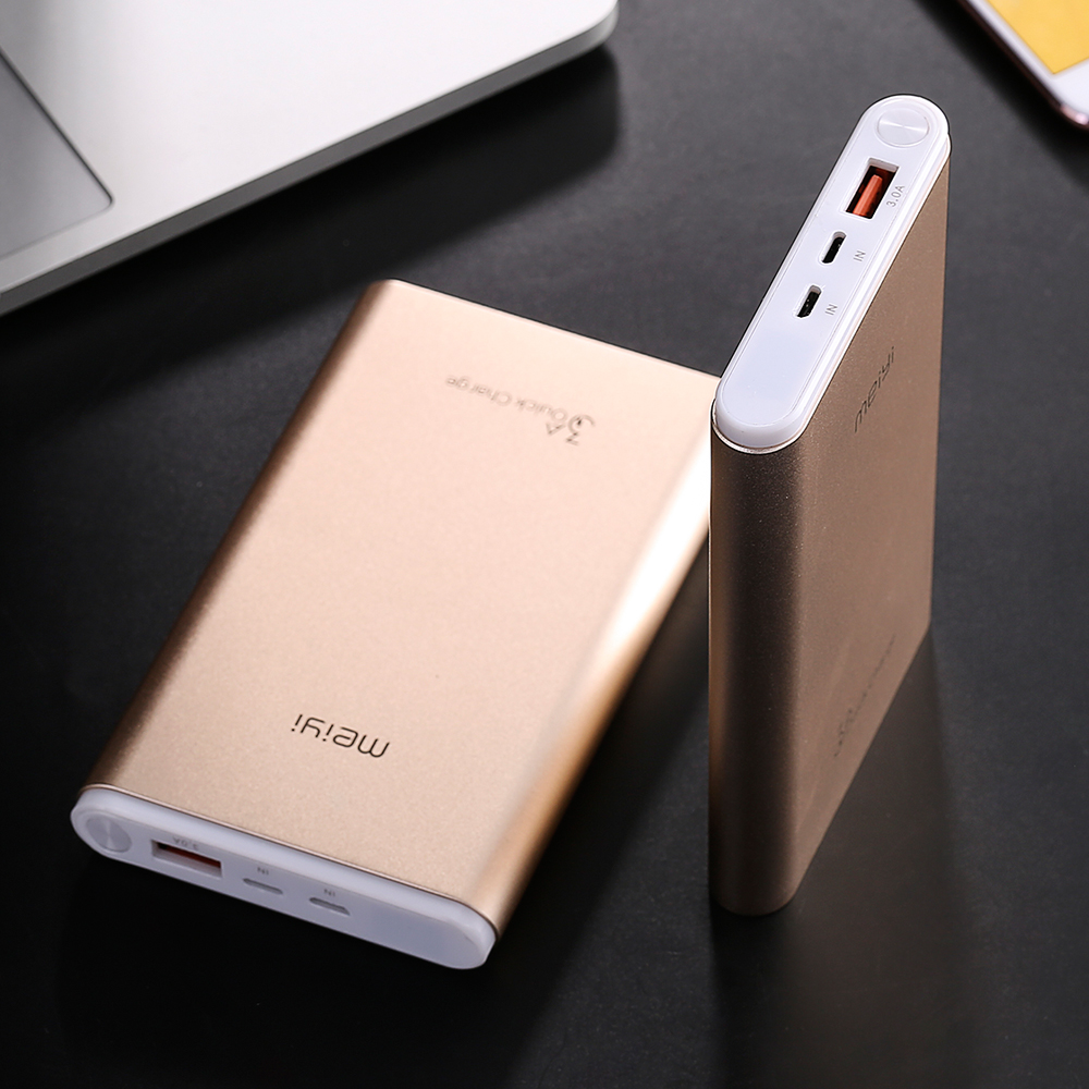 ultra thin with type c quick charger smart identification promotion 10000mah mobile power supply