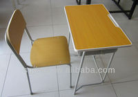 single seat student desks and chairs with pen slot