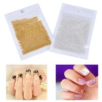 1 Bag 50g Mini Caviar Beads DIY Gel Polish Nail Art Tips Decoration Nail Decoration for Nail Beauty Accessories Manicure Tools